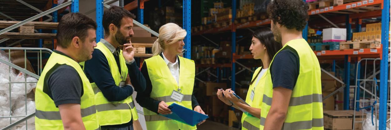 Kenco_Warehouse Safety_Employee huddle
