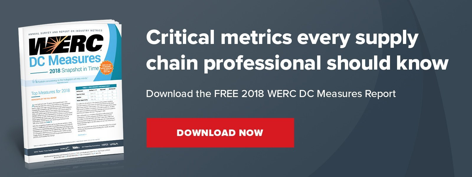 download the werc 2018 warehouse metrics report